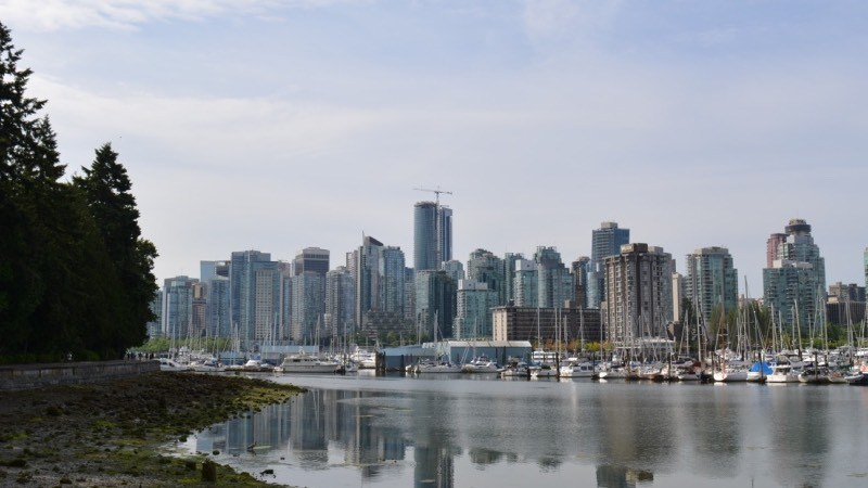 Vancouver BC Downtown skyline