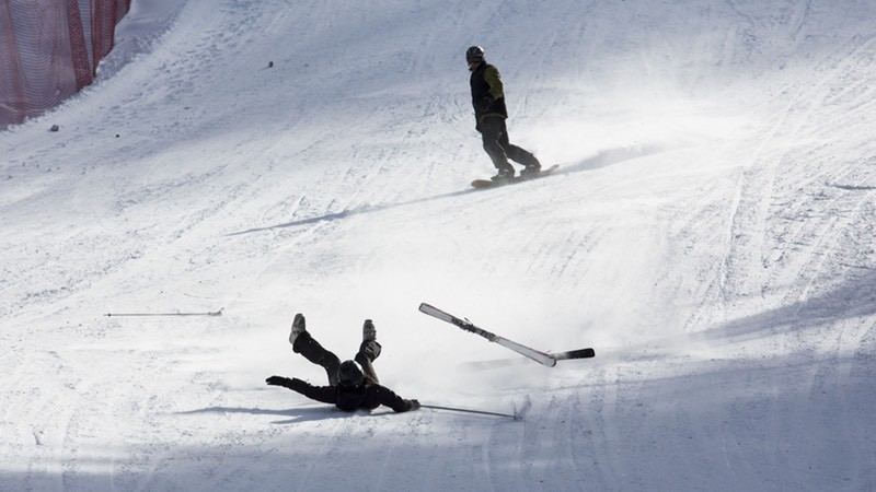 Snowboard and Ski fall injuries