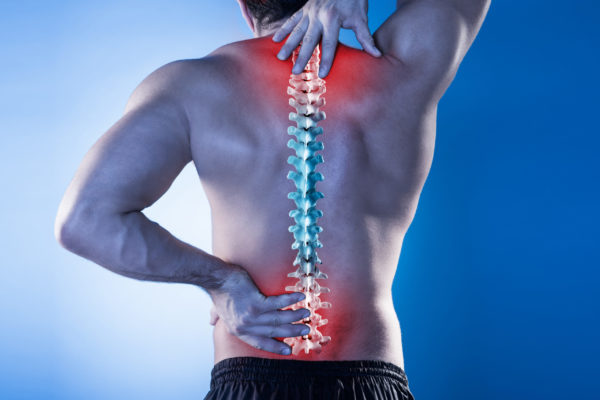 Van Sports & Physiotherapy osteopathic practitioner is helping patient to relieve the lower back pain.